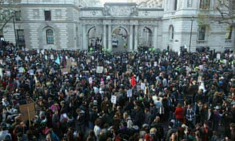 Students Protest Over The Government's Proposed Changes To Tuition Fees