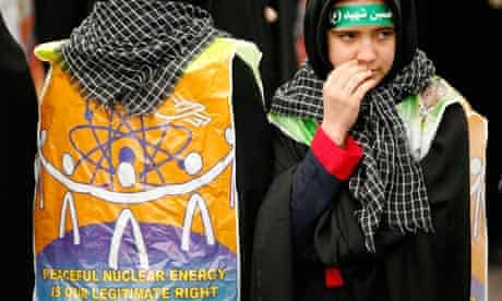 Nuclear energy campaigners in Iran
