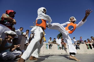24 hours in pictures: Taekwondo exhibition match in Cuba