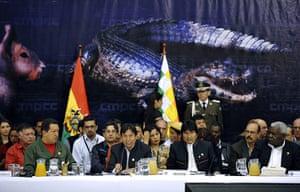 Year in Climate: (L-R) Venezuela's President Hugo Chavez,