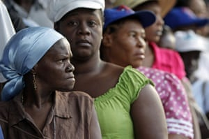 Haiti Elections: Women wait in line to cast their ballots