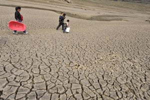 Year in Climate: Drought in South East Asia and China in Kaiyang county, Guizhou province,
