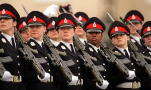 Female cadets at Sandhurst