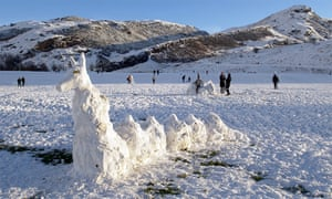 This shot of a 'snow monster' in Holyrood Park was submitted to the Guardian Edinburgh Flickr stream by Richard Cross