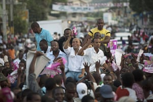 Haiti Elections: Presidential candidate Michel Martelly and musician Wyclef Jean