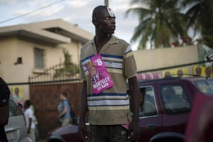 Haiti Elections: A supporter of presidential candidate Michel Martelly