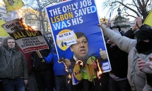 Protesters Irish bailout