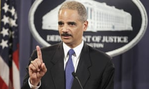 US attorney-general Eric Holder