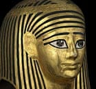 Ancient Egyptian gilded mask