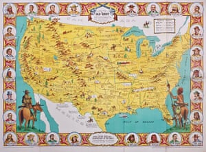 Mapping America: Danny Arnold's pictorial map of the Old West