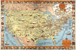 Mapping America: A pictorial chart of American Literature compiled by Ethel Earle Wylie