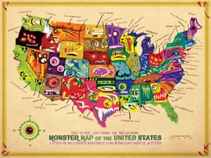 Mapping America: Monster Map of the United States