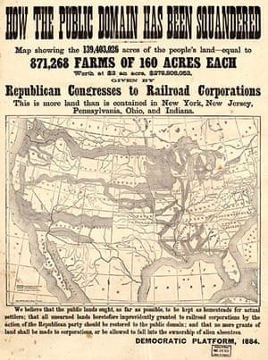 Mapping America: Map showing land given by Republican Congresses to Railroad Corporations