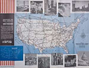 Mapping America: Map of Greyhound lines and principal connecting lines