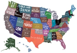 Mapping America: 50 states and their mottos by artist Emily Wick
