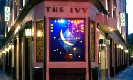The Ivy restaurant in the West End of London
