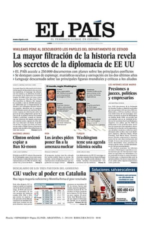 Newspaper front pages: EL PAIS
