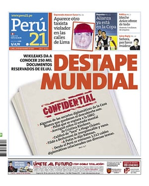 Newspaper front pages: Peru 21