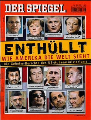 Newspaper front pages: Der Spiegel
