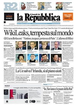 Newspaper front pages: La Republica
