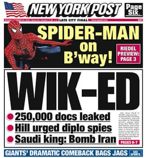 Newspaper front pages: New York Post