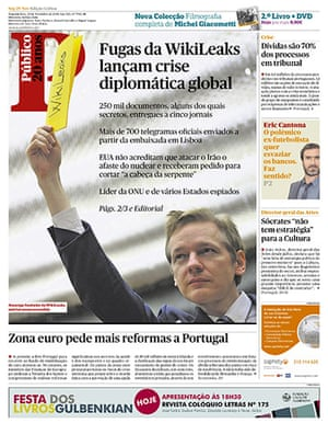 Newspaper front pages: Publico