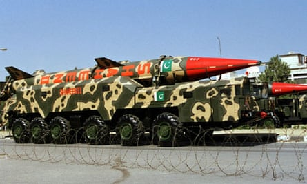A nuclear-capable ballistic missile in Pakistan
