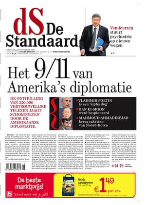 Newspaper front pages: Ds de Standaard
