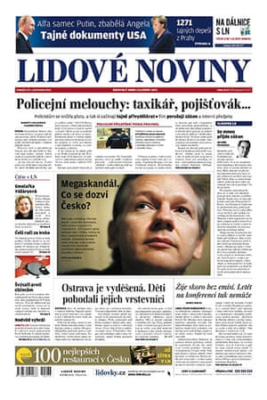 Newspaper front pages: Lidove Noviny