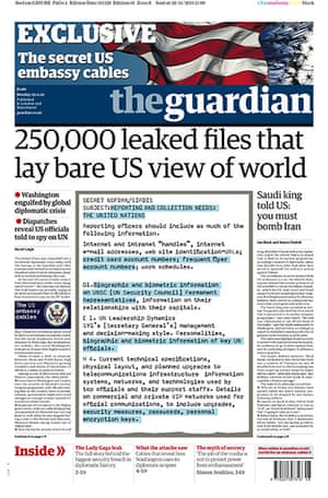 Newspaper front pages: The Guardian