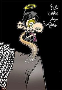ahmadinejad-snake-cartoon