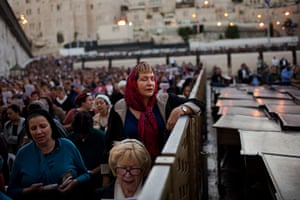 24 hours in pictures: Jewish women take part in a special prayer for rain at the Western Wall
