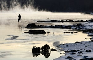 24 hours in pictures: A fisherman casts his line in Moscow River