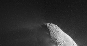 Space Monthly: NASA spacecraft sees cosmic snow storm during comet encounter