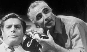 Film director Mario Monicelli, right, with Marcello Mastroianni
