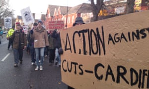 cardiff student protest