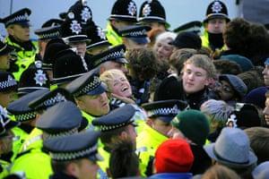 Student demonstrate in Leeds