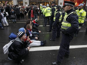 Student protests in London