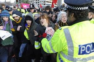 Students demonstrate in Leeds