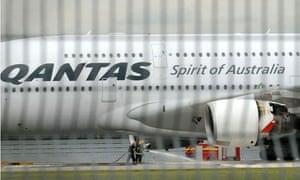 A troubled Qantas Airbus A380 plane