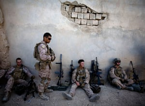 24 hours in pictures: Marines of with India company take a break, Afghanistan