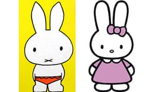 Miffy and Cathy the rabbits