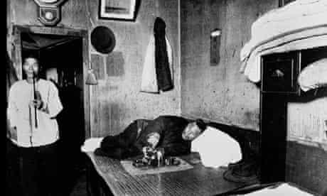 An opium den in San Francisco, early 1900s.