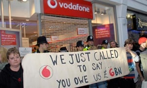 vodafone protests
