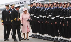 The Queen visits HMS Ark Royal