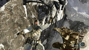 Call of Duty: Black Ops: Raiding a Russian military base high up in the mountains