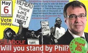 Phil Woolas election leaflet