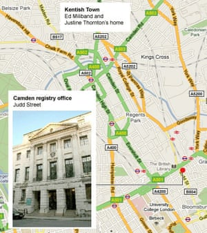 Camden registry office map