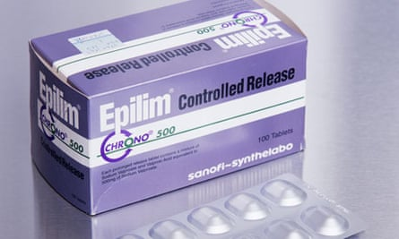 Epilim anti-epilepsy tablets containing a mixture of the drugs sodium valproate and volproic acid.