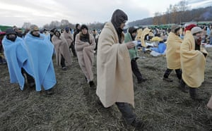 Anti-nuclear protests: Anti-nuclear protesters demonstrate for their freedom